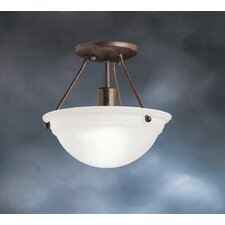 Swiss Passport 1 Light Semi Flush Mount