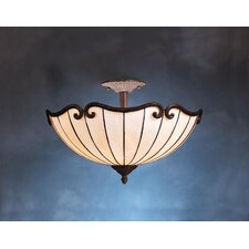 Tiffany 2 Light Semi Flush Mount
