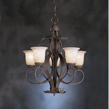 High Country 5 Light Outdoor Chandelier