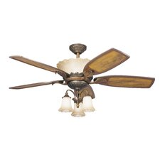 Golden Iridescence Three Light Ceiling Fan Light Kit (Set of 4)