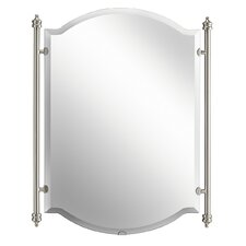 Abbeyville Mirror in Brushed Pewter