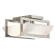 Crescent View 2 Light Semi Flush Mount