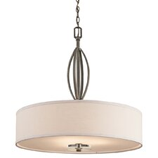Leighton 3 Light Inverted Drum Pendant