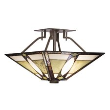Denman 2 Light Semi Flush Mount