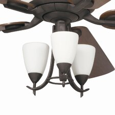 Olympia Three Light Branched Ceiling Fan Light Kit