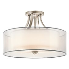 <strong>Kichler</strong> Lacey 4 Light Semi Flush Mount