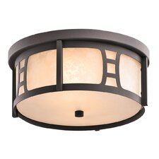Oak Bluffs 2 Light Outdoor Flush Mount