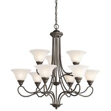 <strong>Kichler</strong> Stafford 9 Light Chandelier