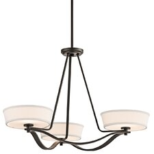 <strong>Kichler</strong> Glissade 3 Light Chandelier