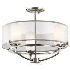 Saldana 3 Light Convertible Semi Flush Mount