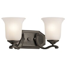 Wellington Square 2 Light Bath Vanity Light
