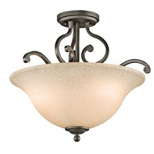 <strong>Kichler</strong> Camerena 3 Light Semi Flush Mount