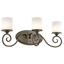<strong>Kichler</strong> Lara 3 Light Bath Vanity Light