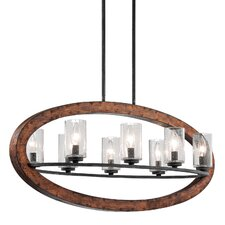 Grand Bank 8 Light Linear Chandelier