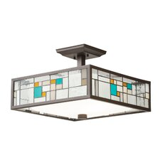 Caywood 3 Light Semi Flush Pendant