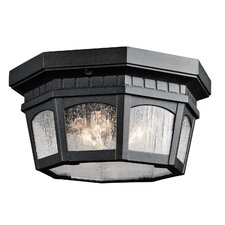 Courtyard 3 Light Outdoor Flush Mount