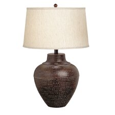 "New Informality Oval 24.25"" H Table Lamp with Drum Shade"
