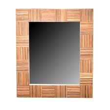 "26"" H x 29"" W Cheyenne Rectangle Wood Mirror"