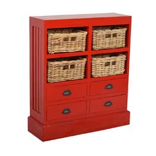 Nantucket 4 Basket and 4 Drawer Cabinet