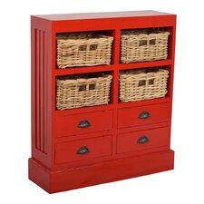 Nantucket 4 Basket and 4 Drawer Cabinet