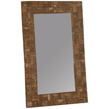 Wooden Bark Rectangular Mirror