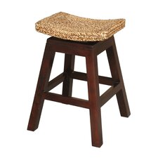 "<strong>Jeffan</strong> Panama 24"" Swivel Bar Stool with Cushion"