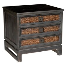 Stacey Three Drawer Nightstand
