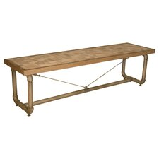 Trapeze Wood Double Bench