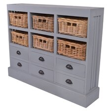 Nantucket 6 Drawer and 6 Basket Storage Cabinet