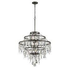 Bistro 9 Light Crystal Chandelier