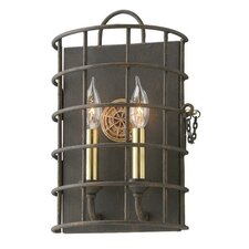 Lattitude 2 Light Cage Wall Sconce
