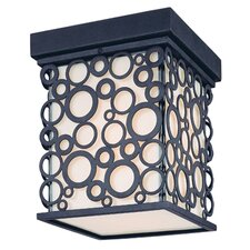<strong>Troy Lighting</strong> Aqua Exterior 1 Light Flush Mount