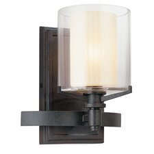 <strong>Troy Lighting</strong> Arcadia 1 Light Bath Wall Sconce