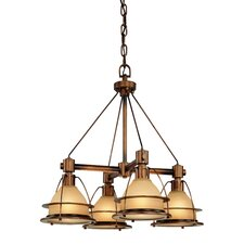 <strong>Troy Lighting</strong> Bristol Bay 4 Light Chandelier