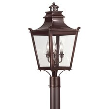 "Dorchester 3 Light 11.25"" Post Lantern"