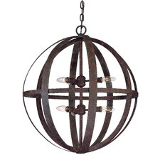 <strong>Troy Lighting</strong> Flatiron 6 Light Large Foyer Pendant