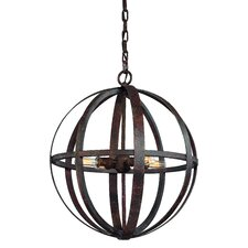 <strong>Troy Lighting</strong> Flatiron 4 Light Medium Foyer Pendant