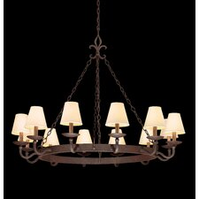 <strong>Troy Lighting</strong> Lyon 12 Light Chandelier