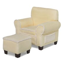 Club Chair and Ottoman in Yellow