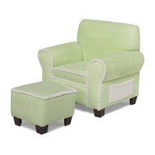 Club Chair and Ottoman Set