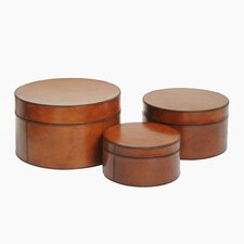 Barrister's Round Nested Boxes (Set of 3)