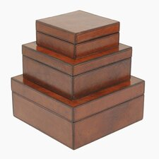 Barrister's Square Nested Boxes (Set of 3)