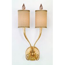 <strong>Corbett Lighting</strong> Pinot  2 Light Wall Sconce