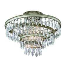 Diva 3 Light Semi Flush Mount
