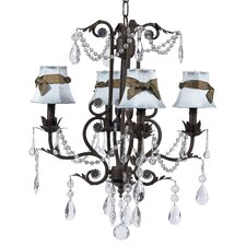 Valentino 4 Light Chandelier with Hourglass Shade