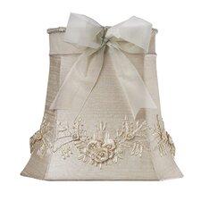 "10"" Floral Bouquet Dupioni Silk Square Lamp Shade"