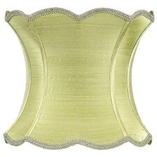 "13"" Dupioni Silk Hourglass Scallop Lamp Shade"