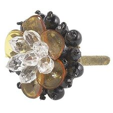 "Beaded Flower 1.5"" Novelty Knob"