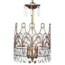 3 Light Crown Chandelier