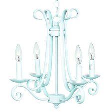 4 Light Harp Chandelier